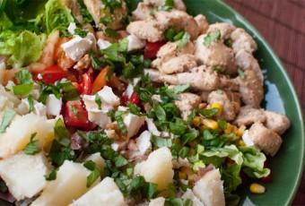 Ensalada de pollo y sesamo