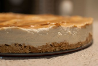 Cheesecake with dulce de leche