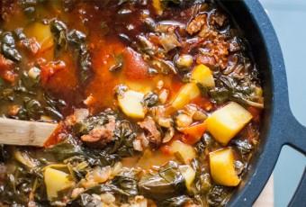 cocido-garbanzos-chorizo-espinacas-patatas