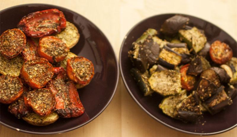 Oven roasted Mediterranean vegetables