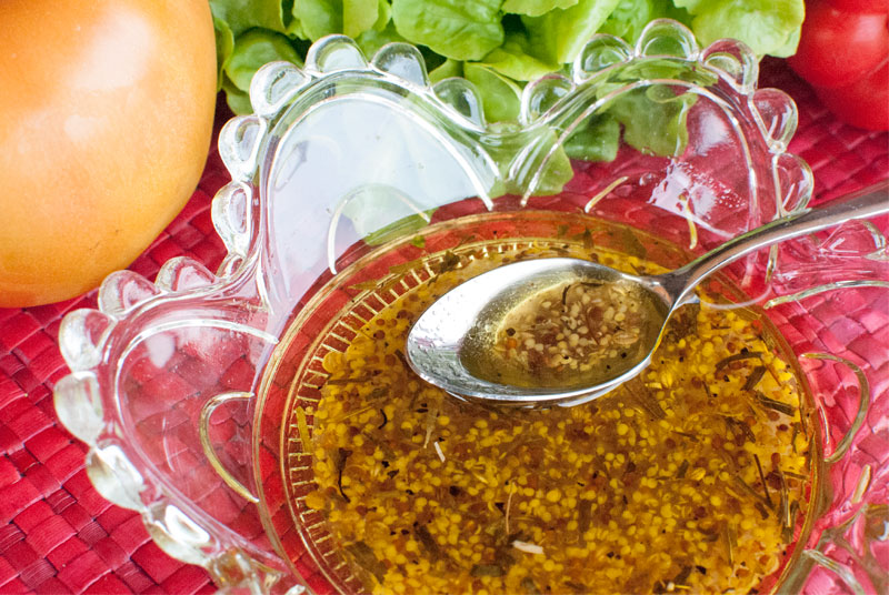 honey and mustard vinaigrette