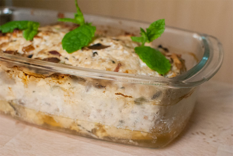 Mint and lemon chicken terrine