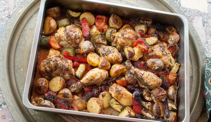 Muslos de pollo al horno con chorizo y naranja val en for Platillos franceses faciles
