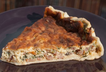 Quiche Lorraine flavoured with rosemary