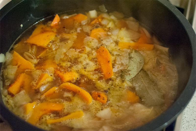 Crema de calabaza al curry con doble sabor