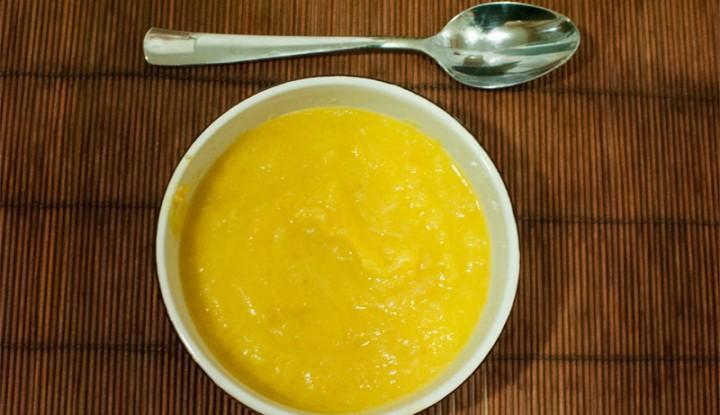 Sopa de puerros salteados: puerros, patatas y zanahorias