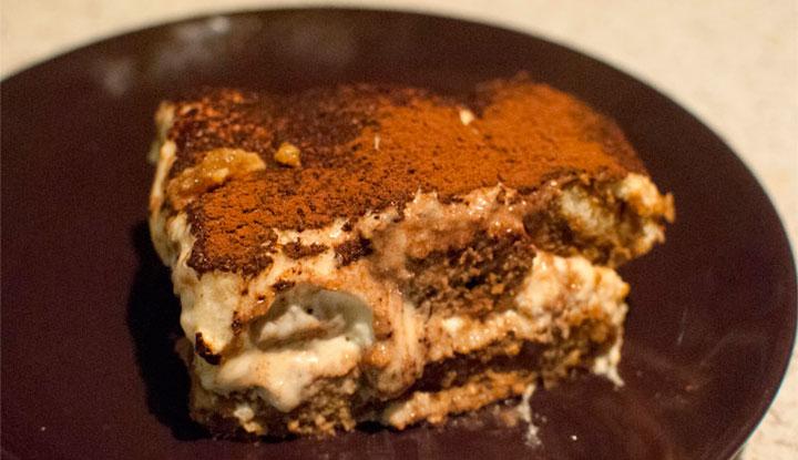 Tiramisu with brown sugar