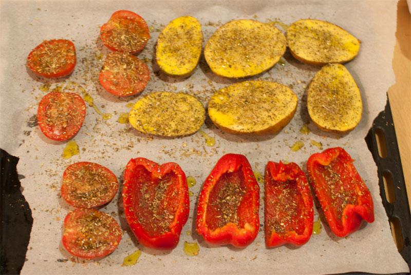 Verduras mediterráneas al horno