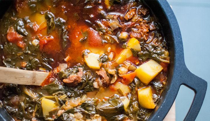 Spanish chorizo and chickpea stew