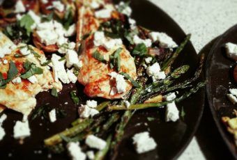 Grilled chicken, vegetable, feta and basil