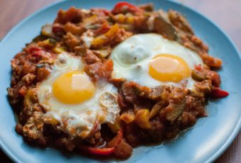 Shakshuka, Middle Eastern ratatouille with eggs