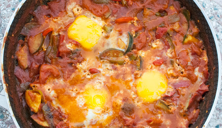 Shakshuka, Middle Eastern ratatouille with eggs