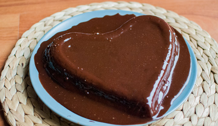 Mi pastel de chocolate para San Valentín