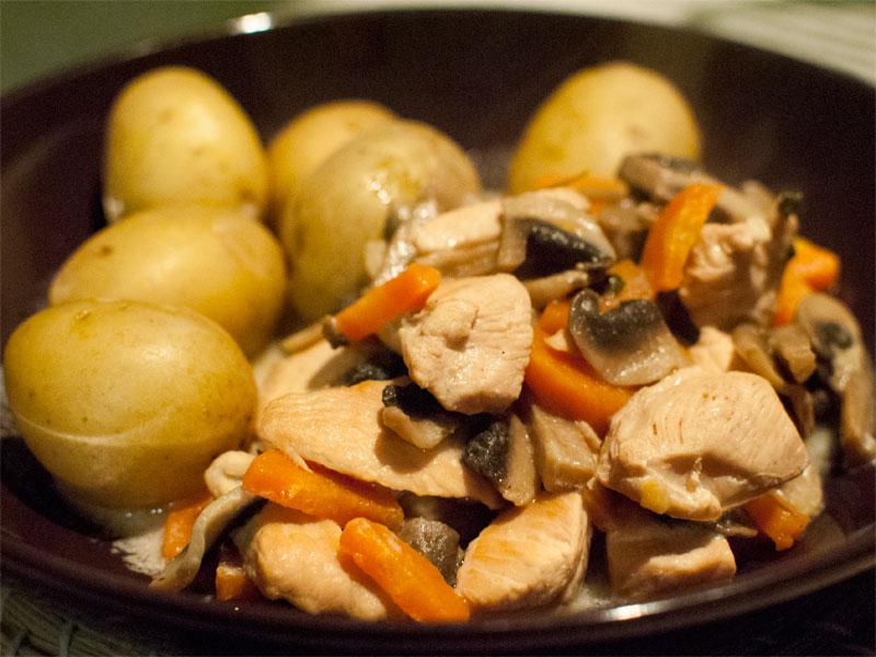 Blanquette de veau - French creamy beef stew