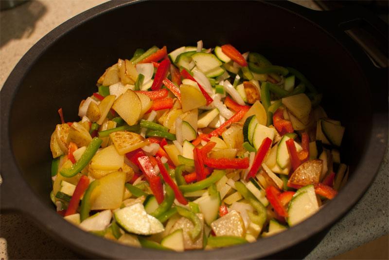 Estofado de verduras mediterráneas