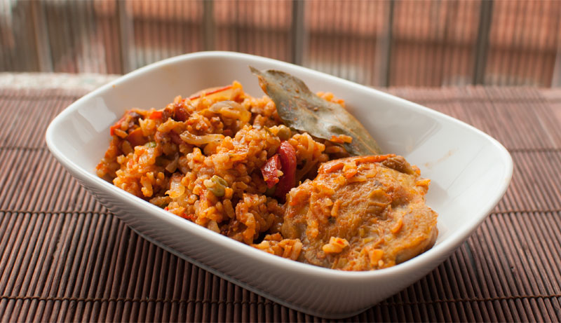 Spanish chicken rice with sherry