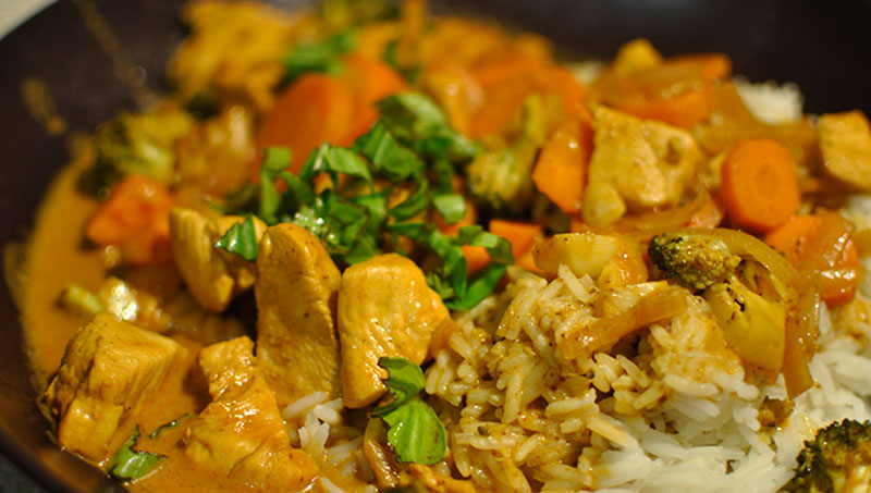 Thai Chicken curry with coconut milk