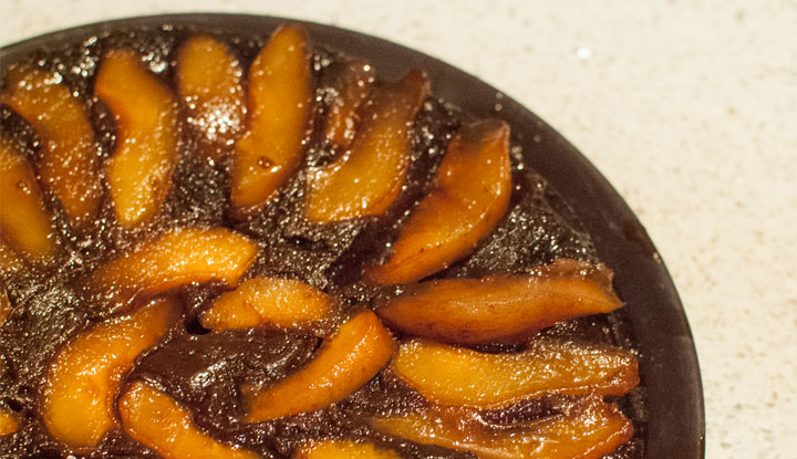 Upside-down Pear and Chocolate Cake