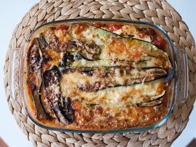 Lasaña de calabacín picante sin pasta