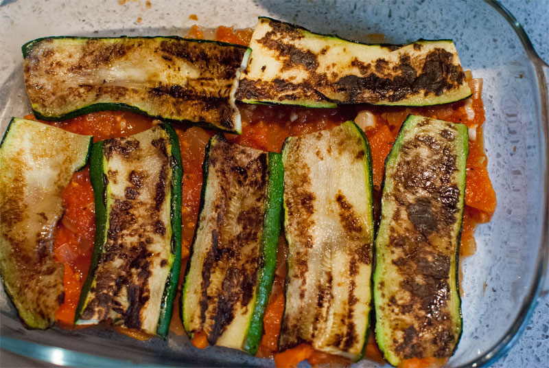 No pasta spicy courgette lasagne
