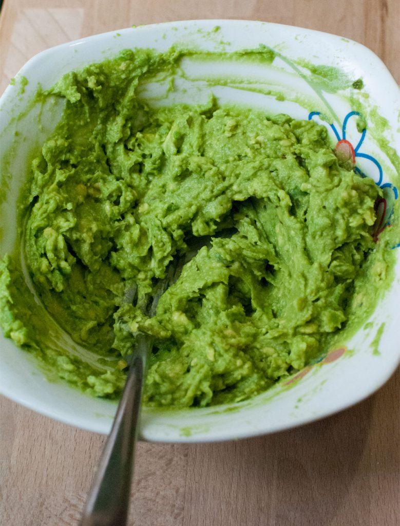Homemade creamy guacamole