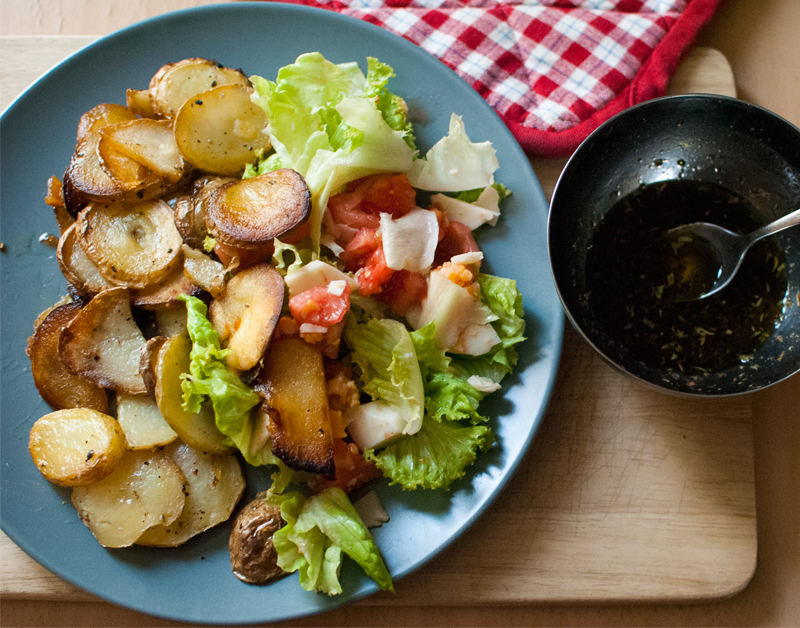 Easy candied potato salad