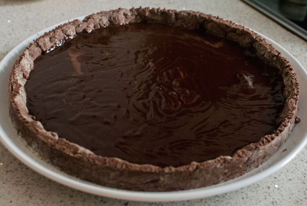 Chocolate and salted butter pie